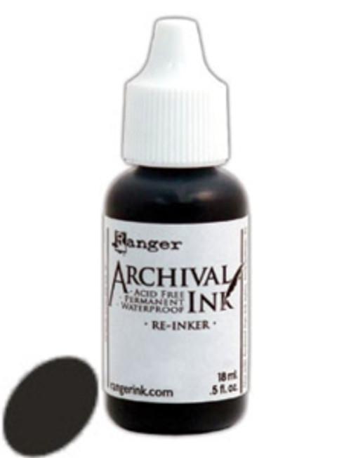 Ranger Archival Reinker .5 Ounce - Jet Black