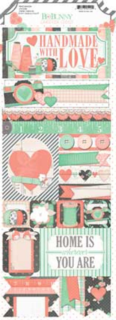 Bo Bunny - Pincushion 4.5'X12' Cardstock Sticker Sheet