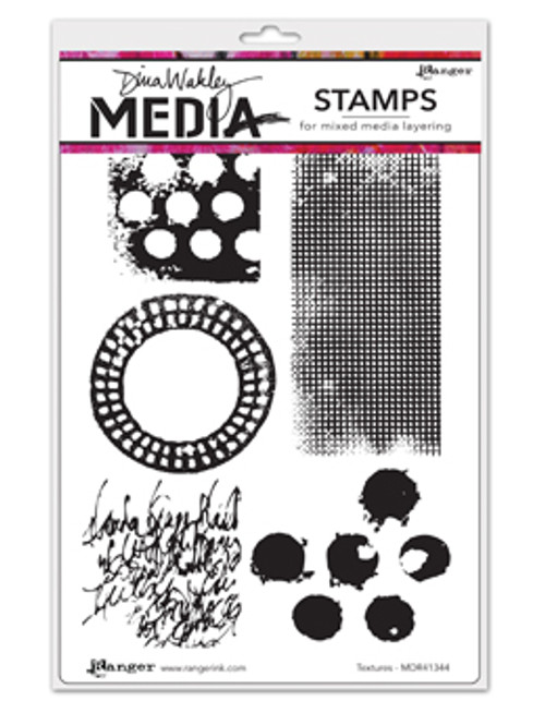 Dina Wakley Media Cling Stamps -Textures - Ranger