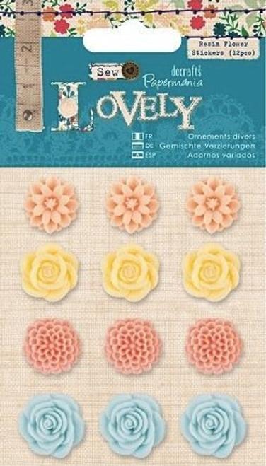 plastic acrylic flower self adhesive flower embellishments