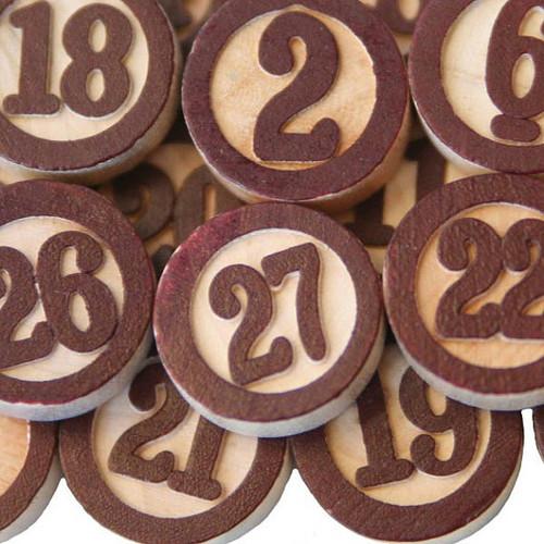 Maya Road wooden bingo embellishments