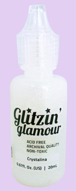 Couture Creations glitter glue in  Crystalina, create dazzling sparkle to any project!