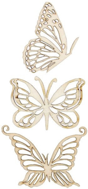 Kaisercraft Wooden Flourishes- Magical Butterfly Pack