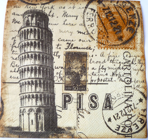 Paper Collage Napkins: Pisa