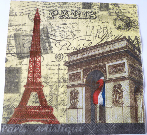 Paper Collage Napkins: Paris #2