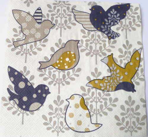 Paper Collage Napkins: Birds