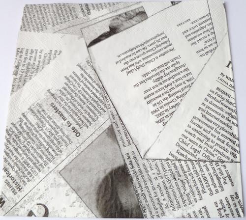 Paper Collage Napkins: News Print
