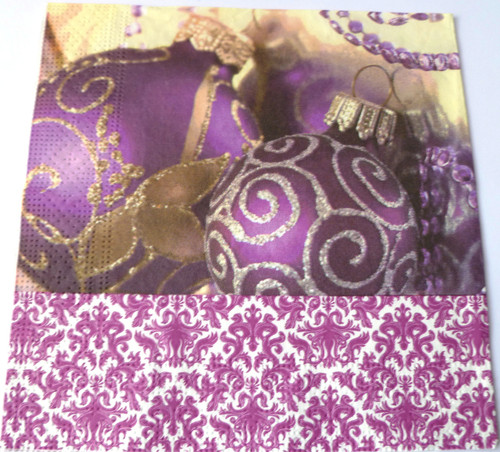 Paper Collage Napkins: Merry Purple