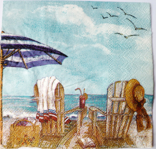 Paper Collage Napkins: Sea Side
