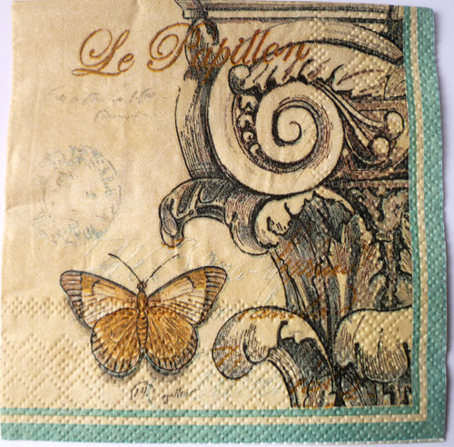 Paper Collage Napkins: Butterfly