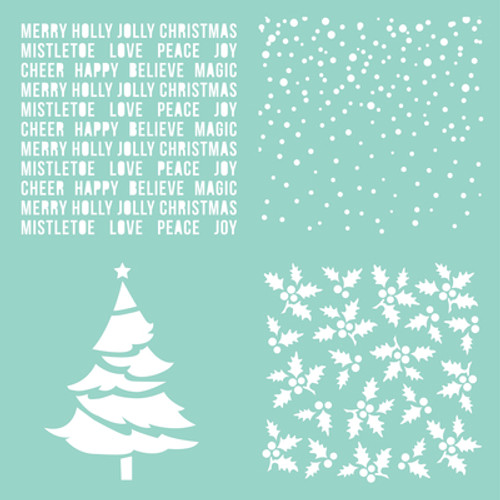 "Christmas Quarters 12 X 12"" Template 