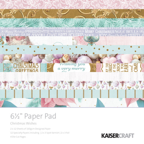 "Kaisercraft - Christmas Wishes 6.5"" Paper Pad"