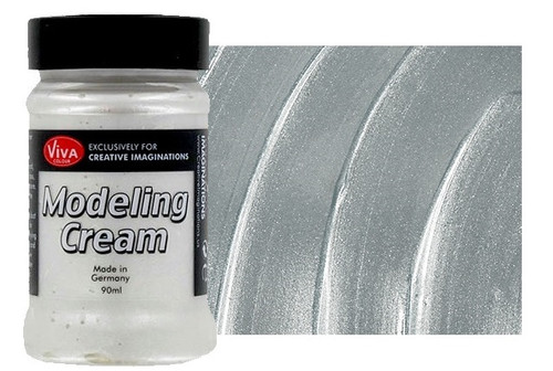 viva decor modeling cream in silver 30118