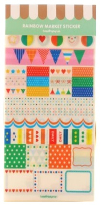 Rainbow Market  PVC Stickers