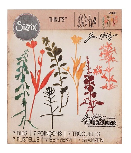 Wildflowers #2 - Tim Holtz /Sizzix Thinlits Die Set (SD661808)
