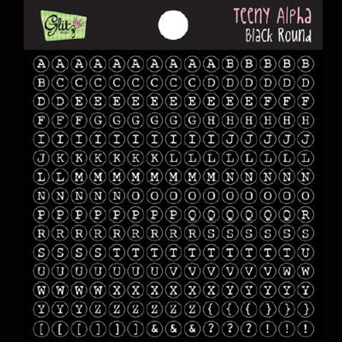Glitz Design- Teeny Alpha - Black Round (SDC2808)