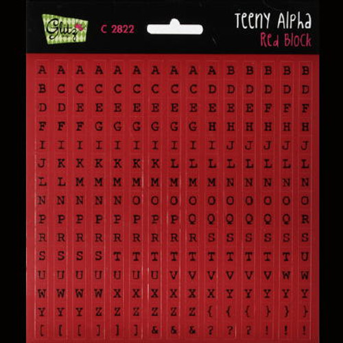 Glitz Design- Teeny Alpha - Red Block (SDC2822)