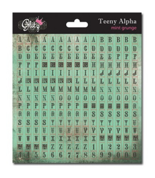 Glitz Design- Teeny Alpha - Mint Grunge (SDTA3210)