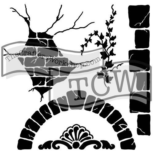 The Crafters Workshop 6x6 Stencil - Mini Tuscan Wall by Gabrielle Pollacco (SDTCW563S)
