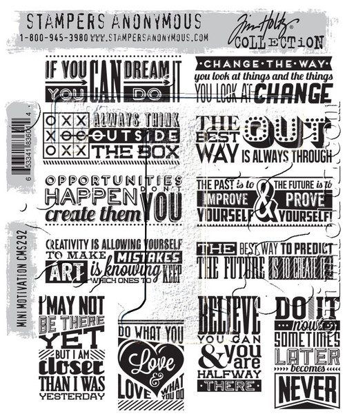 Tim Holtz Cling Mount Stamps- Mini Motivation (SDCM292)
