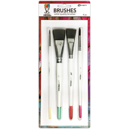 Ranger / Dina Wakley Media Brushes 4 Pack (SDMDA55761)