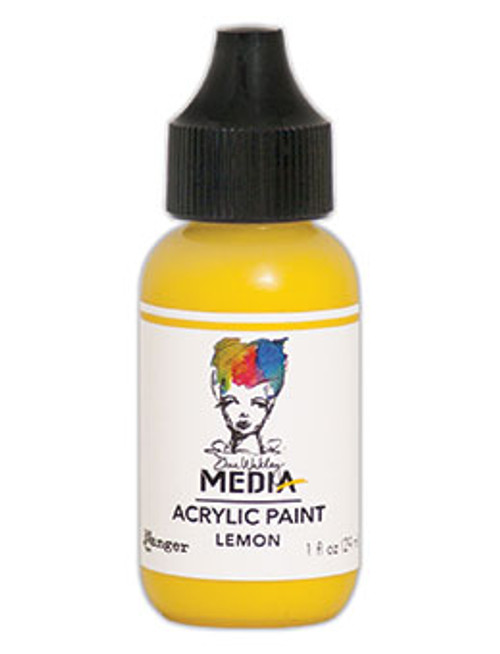 Ranger / Dina Wakley Media Heavy Body Acrylic Paints 1 fl. oz.(29 ml) - Lemon (SDMDQ54047)