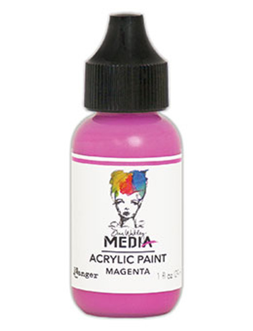 Ranger/ Dina Wakley Media Heavy Body Acrylic Paint 29ml (1 fl.oz)- Magenta (SDMDQ54047)