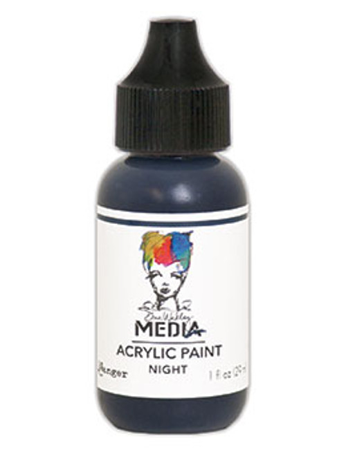 Ranger/ Dina Wakley Media Heavy Body Acrylic Paint 29ml (1 fl.oz)- Night (SDMDQ54054)