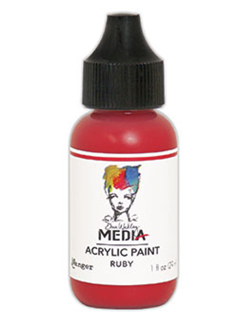 Ranger/ Dina Wakley Media Heavy Body Acrylic Paint 29ml (1 fl.oz)- Ruby (SDMDQ54078)