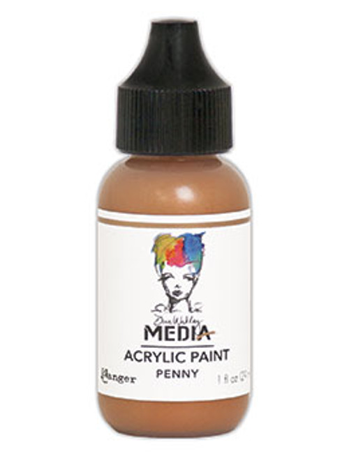 Ranger/ Dina Wakley Media Metallic Heavy Body Acrylic Paint 29ml (1 fl.oz)- Penny (SDMDQ54146)