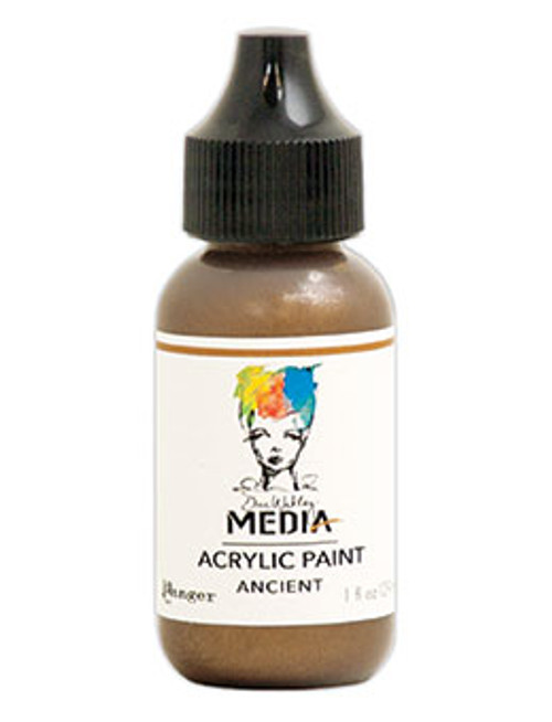 Ranger/ Dina Wakley Media Metallic Heavy Body Acrylic Paint 29ml (1 fl.oz)- Ancient (SDMDQ57888)