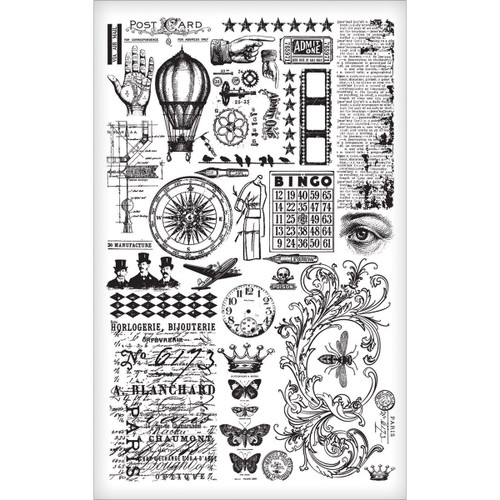 Tim Holtz Idea-ology Remnant Rubs - Elements (SDTH93057)