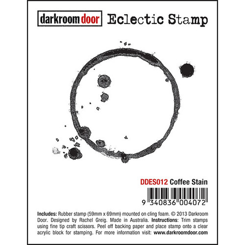 Darkroom Door Eclectic Stamp - Coffee Stain (SDDDES012)