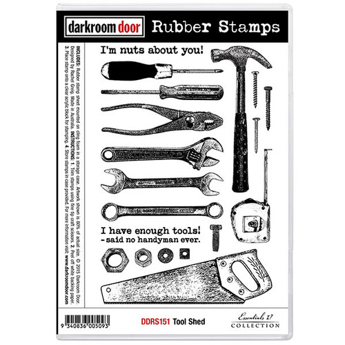 Darkroom Door Rubber Stamp Set - Tool Shed (SDDDRS151)