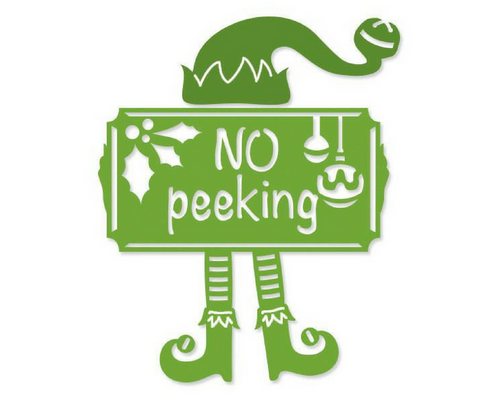 No Peeking - Christmas Die by Couture Creations