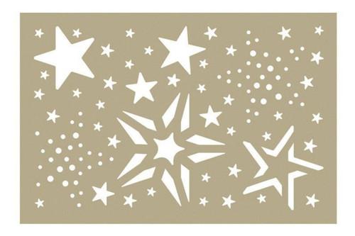 Merry Stars Assortment - 4x6 Stencil
