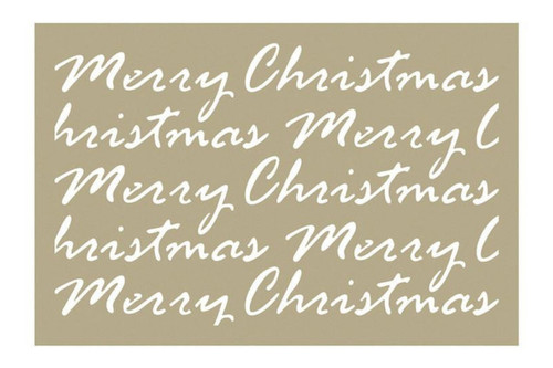 Merry Christmas Script - 4x6 Stencil
