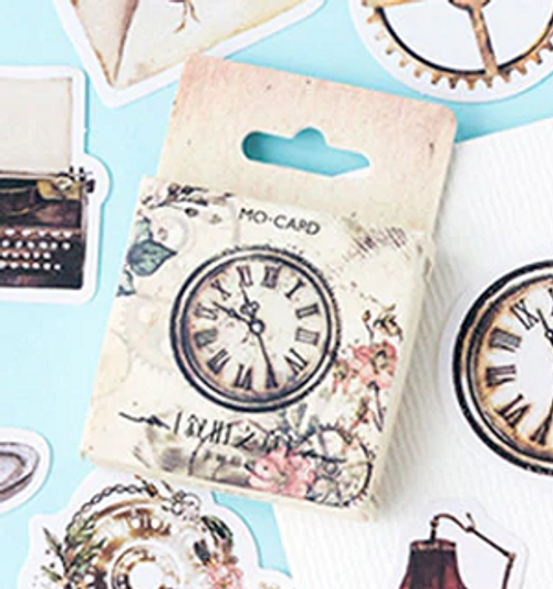 Vintage style decorative stickers (46 pcs)