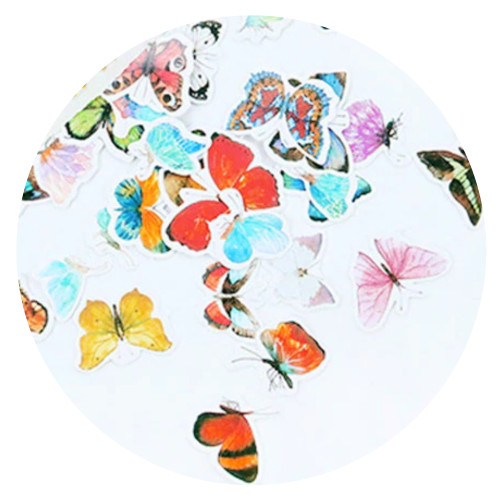 Butterfly decorative stickers (60 pcs)