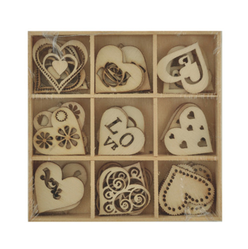 Kaisercraft Lucky dip: Wooden flourish pack: Love