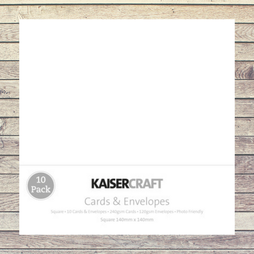 Kaisercraft Cards & Envelopes Square Base│White