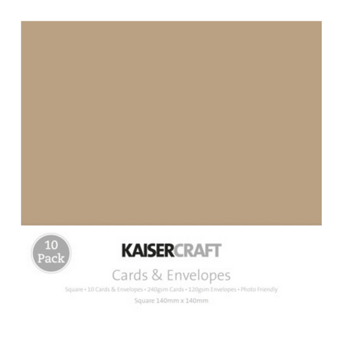 Kaisercraft Cards & Envelopes Square Base│Kraft