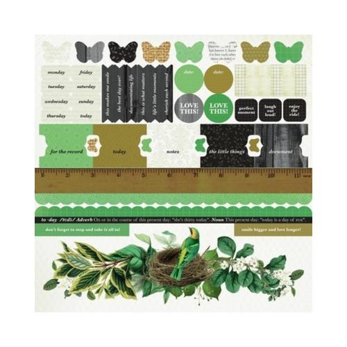 Kaisercraft 12x12 Sticker Sheet│Limelight Collection