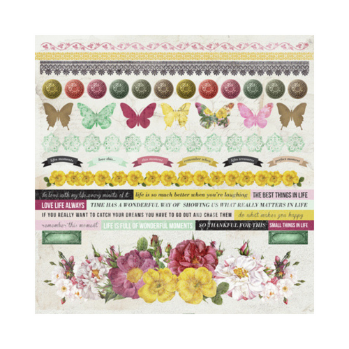Kaisercraft 12x12 Sticker Sheet│Be-YOU-tiful Collection