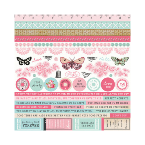 Kaisercraft 12x12 Sticker Sheet│Miss Betty Collection