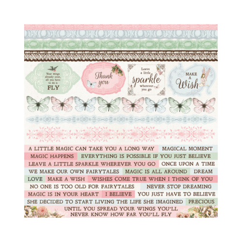 Kaisercraft 12x12 Sticker Sheet│Fairy Garden Collection