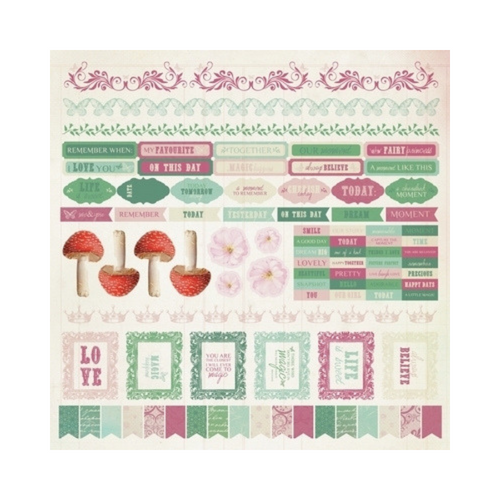 Kaisercraft 12x12 Sticker Sheet│Enchanted Garden Collection