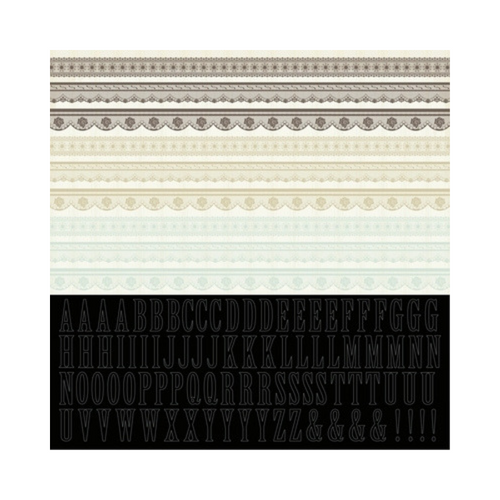 Kaisercraft 12x12 Sticker Sheet│On This Day - Lace Collection