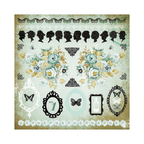 Kaisercraft 12x12 Sticker Sheet│75 Cents Collection