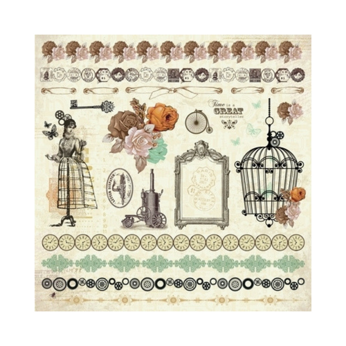 Kaisercraft 12x12 Sticker Sheet│Miss Empire  Collection